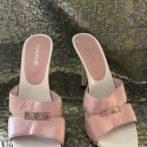BEBE Stiletto high heels Pink leather shoes